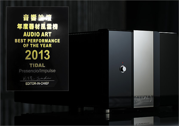 """TIDAL Presencio and TIDAL Impulse received the """"Best Performance Of The Year Award 2013"""" of AUDIO ART magazine."""