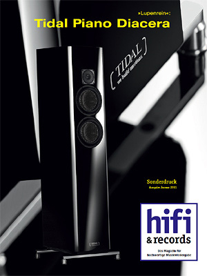 Review of the TIDAL Piano Diacera in the magazin 'hifi & records' (issue 1 / 2011)