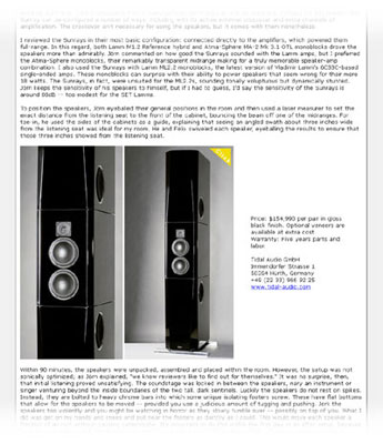 Review of the TIDAL Sunray